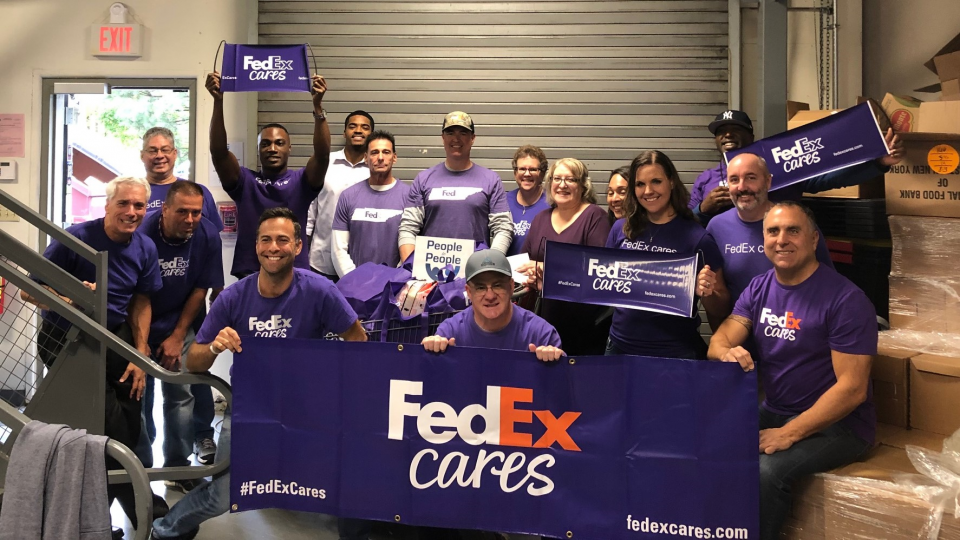 Group of FedEx Cares volunteers in New York