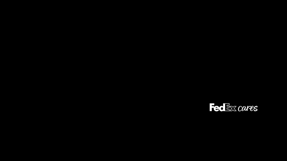 banner with FedEx Cares